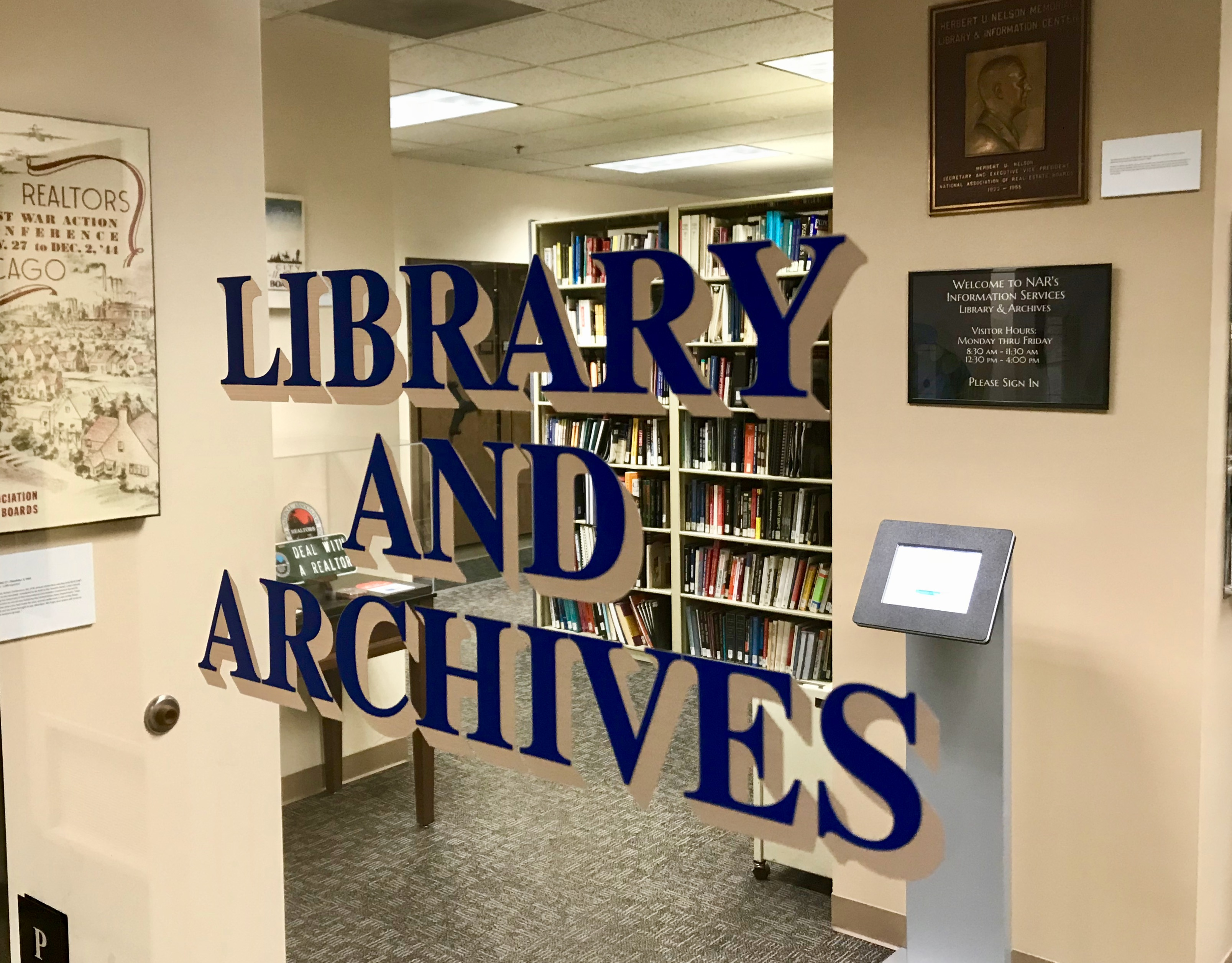 NAR Library & Archives Entrance.