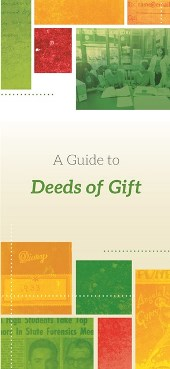 A Guide to Deeds of Gift brochure cover