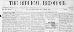December 8, 1849 The Biblical Recorder http://recorder.zsr.wfu.edu