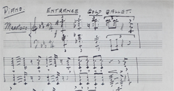 """Gold Ballet"" from the Gertrude and Max Hoffman Music Manuscript Collection http://wakespace.lib.wfu.edu/jspui/handle/10339/36331"